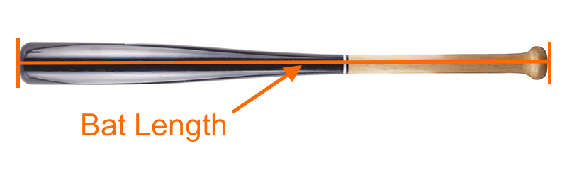 Determine Baseball bat size (bat length)