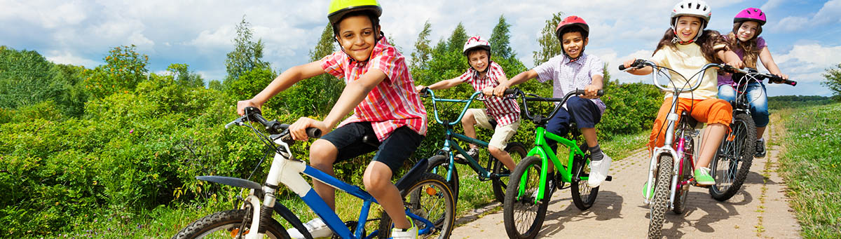 Determine kids' bike size with our kids' bike size chart