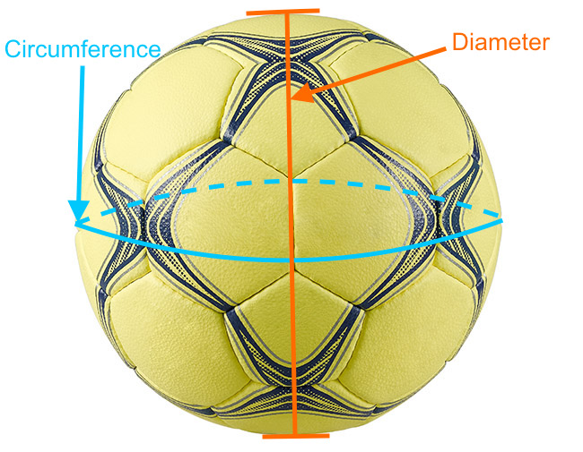 Handball ball measurements/dimensions