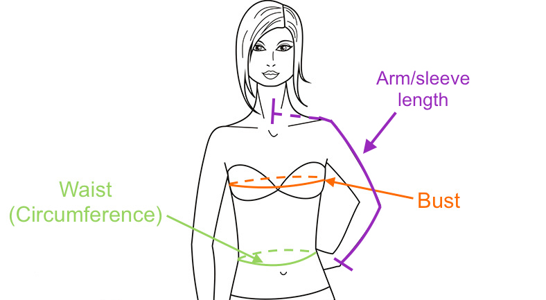 How to Measure Women's Shirt Size